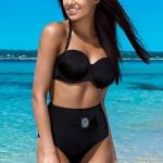 Černé zeštíhlující dvoudílné plavky Ash 2016 s vysokými kalhotkami