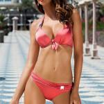 Dámské dvoudílné push-up plavky Ewlon Gloria se zavazováním za krkem