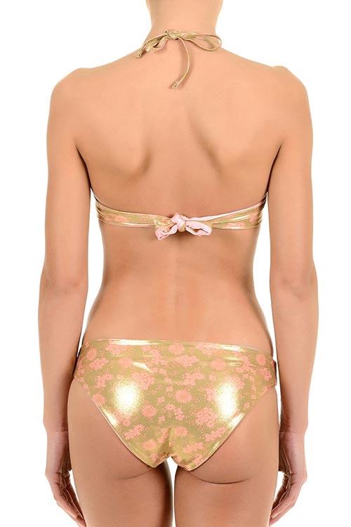 Zlato růžové dámské plavky