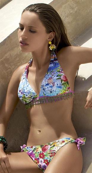 Luxusní dámské dvoudílné plavky Vacanze Lanai s květinovým vzorem