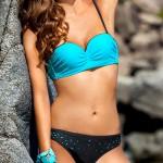 Pestrobarevné dvoudílné plavky Ewlon Salma pro menší prsa