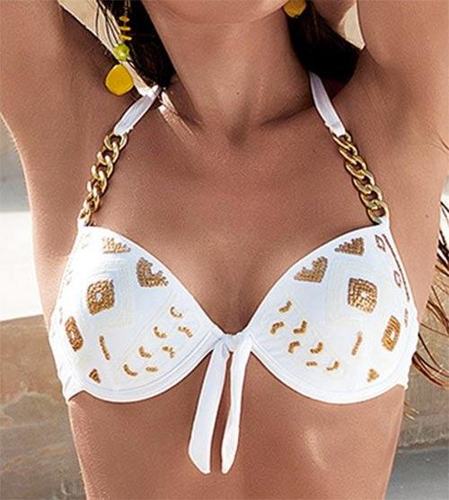 Ramínka plavek ze zlatých řetízků