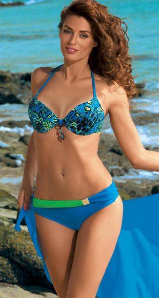 Exotické push-up plavky s korálky mezi košíčky