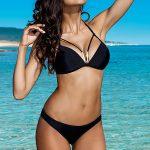 Dvoudílné plavky Lorin – podprsenka zdobená šperkem a ozdobnými proužky