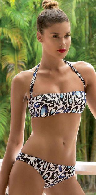 Luxusní italské dámské dvoudílné plavky se zvířecím vzorem
