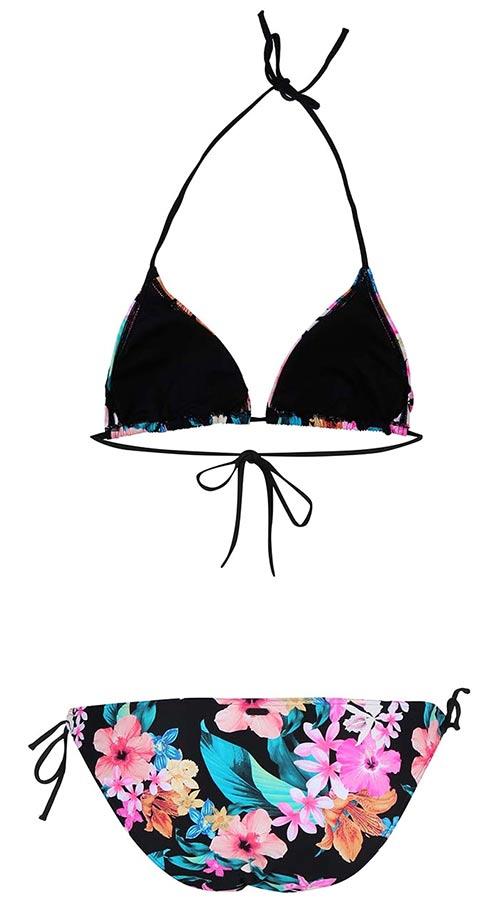 Luxusní plavky s květinovým potiskem