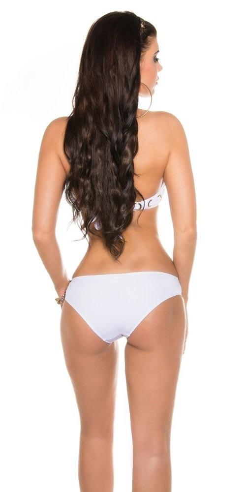 Bílé dvoudílné plavky levně