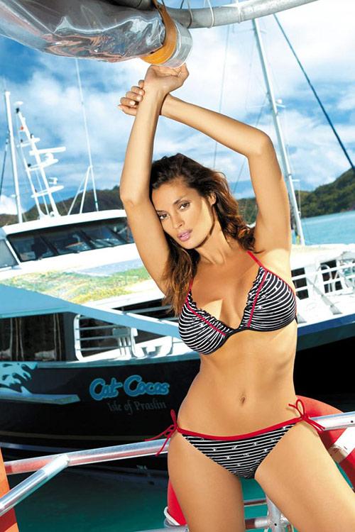 Černobílé plavky Marko M-189 Patty