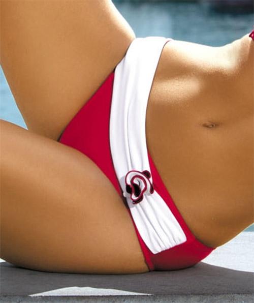 Červené plavky Marko Olimpia španělského stylu