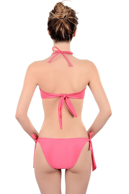 Růžové italské plavky Felisa