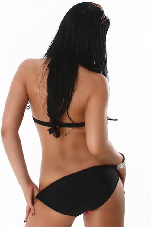 Sexy plavky s ozdobnou sponou