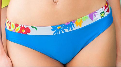 Modré květované dvoudílné plavky Floriana