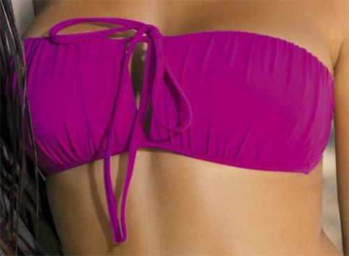 Fialové dvoudílné bandeau plavky