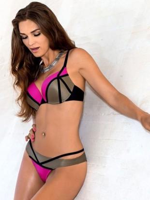 Dvoudílné plavky LORIN Natalia a jedinečným vzorem