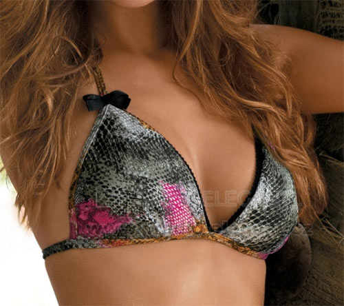 Sexy dvoudílné pestré plavky Lena ve stylu bikini