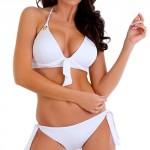 Bílé push-up plavky Lupoline Frida