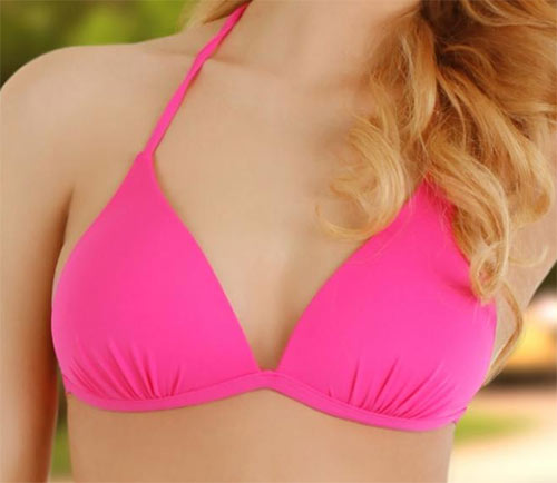 Růžové dámské dvoudílné plavky Lupoline Eva pro menší poprsí