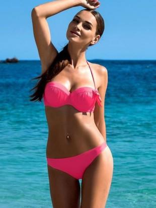 Růžové dvoudílné plavky LORIN DONATA s velmi ženským střihem