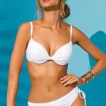 Bílé push-up dvoudílné italské plavky Ribianco značky Volin