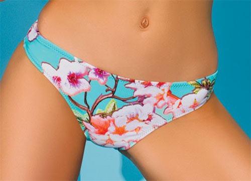 Dvoudílné plavky s květinovým vzorem