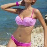 Dvoudílné push up plavky Ewlon Ibiza s kostičkovaným vzorem