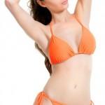 Oranžové dvoudíné tanga plavky Demoniq Emma