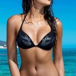 Černé dámské dvoudílné plavky Alessia s třpytivým vzorkem