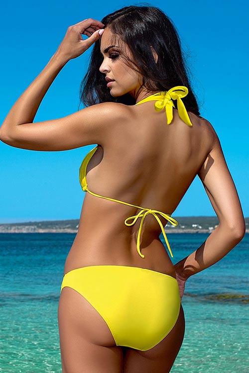 Žluté dámské dvoudílné plavky