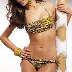 Dvoudílné bandeau plavky Lorin Airana v hawaiském stylu
