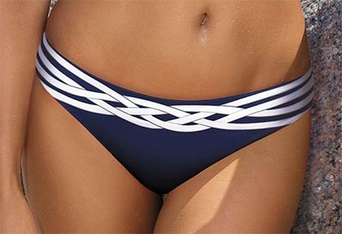 Modro-bílé dámské plavky