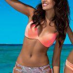 Dámské dvoudílné Push-Up plavky Viki s kosticemi a překříženými ramínky