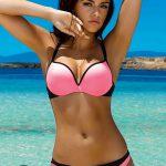 Růžové neonové plavky Astratex Brooke s double push-up efektem