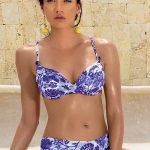 Luxusní dámské dvoudílné plavky v modrém květinovém designu Astratex Stela