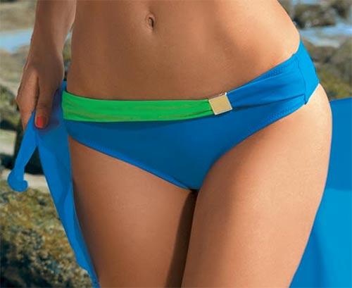 Modro-zelené plavkové kalhotky