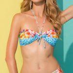 Luxusní dvoudílné plavky ve zvířecím designu s květy