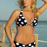Puntíkované plavky Galina s vyššími zeštíhlujícími kalhotkami