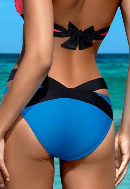 Unikátní dámské plavky s mašličkou