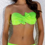 Svítívé neonové dvoudílné plavky s překříženými košíčky