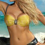 Zlaté dvoudílné push-up plavky Bea z kolekce 2017