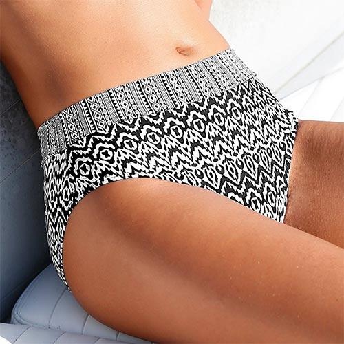 Plavkové maxi kalhotky s efektem plochého bříška