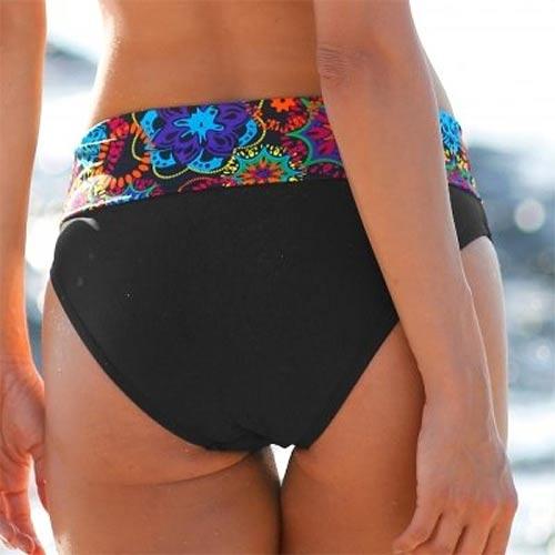 Stahovací plavkové kalhotky s vyšším pasem