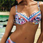 Italské dvoudílné plavky Vacanze s nevyztuženými košíčky