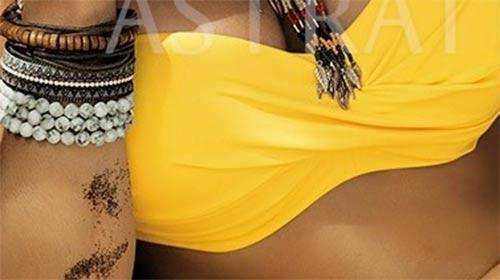 Zářivě žluté dámské plavky