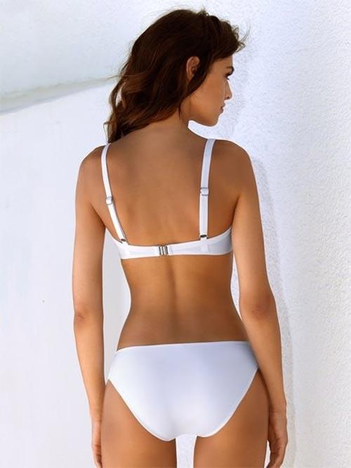 Bílé dvoudílné plavky Lorin