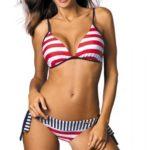 Dámské plavky s motivem americké vlajky