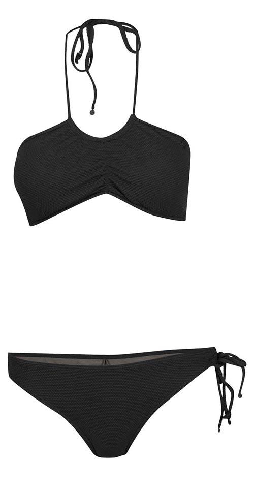 Černé dvoudílné plavky se zavazováním za krk Bench