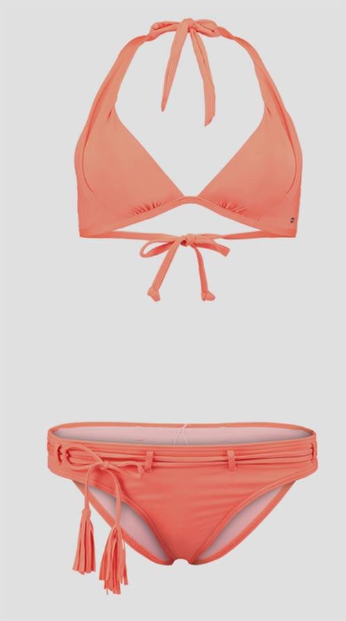Oranžové dámské dvoudílné plavky