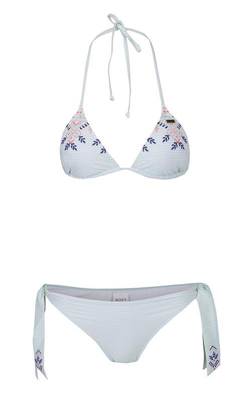 Dvoudílné plavky s vyšívaným vzorem Roxy Deli