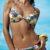 Dvoudílné push-up plavky s tropickým vzorem