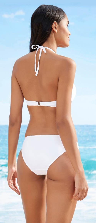 Bílé dvoudílné plavky Bonprix